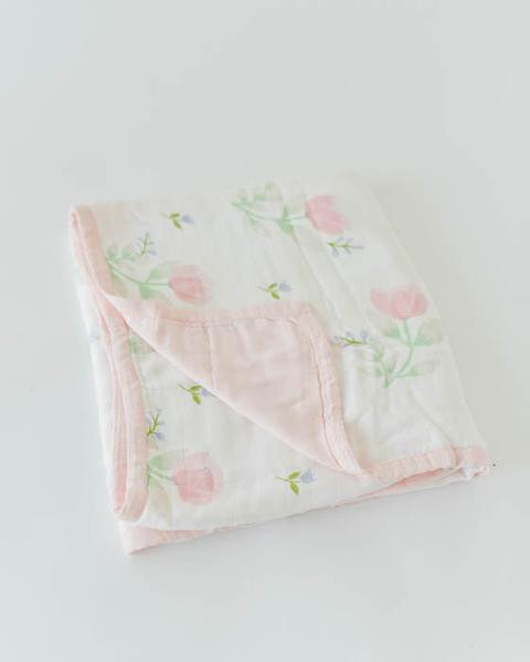 Pink Peony Deluxe Muslin Quilt