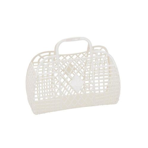 Cream Small Retro Basket