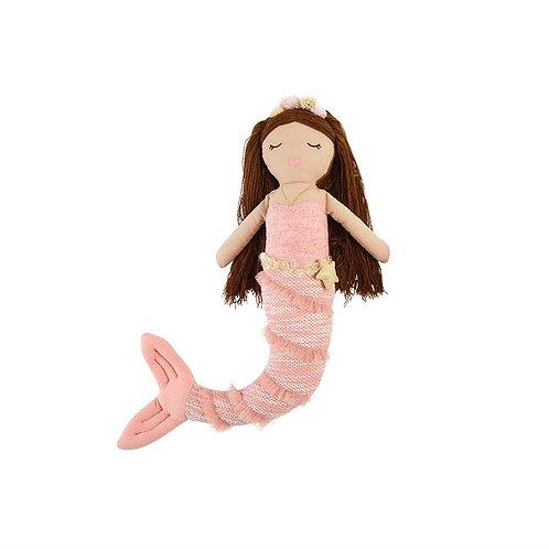 Pink Tail Mermaid Doll