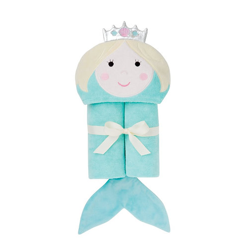 Mermaid Hooded Bath Wrap