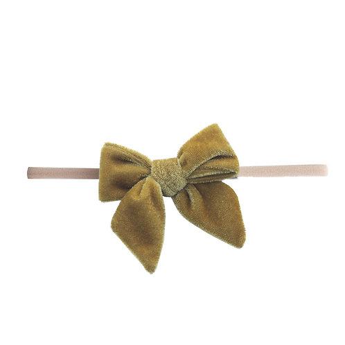 Brass Velvet Bow Skinny