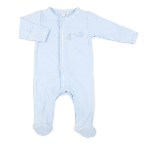 Blue Worth the Wait Embroidered Footie