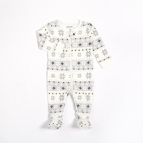 Off-White Fair Isle Baby Sleeper Knit