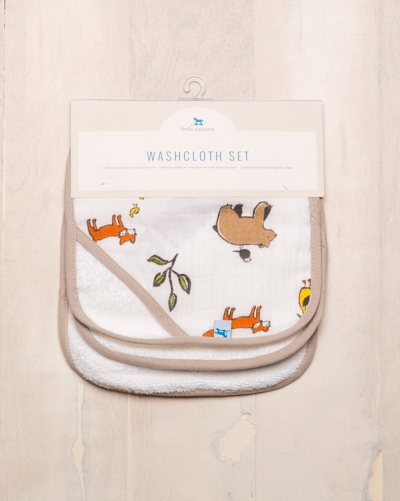 WASHCLOTH SET - FOREST FRIENDS 1