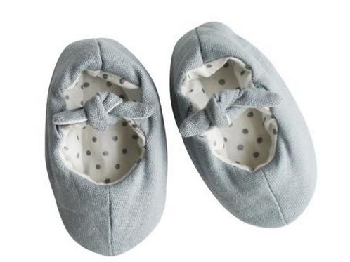 Grey Bobby Baby Slippers