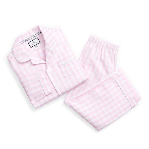 Pink Gingham Pijama Set