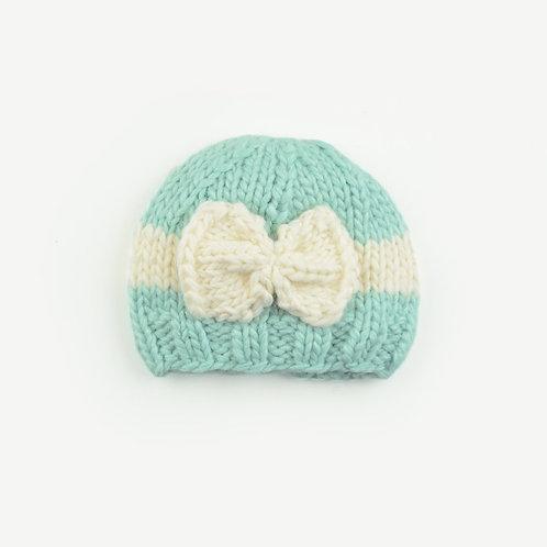 Sabrina Mint Bow Hat