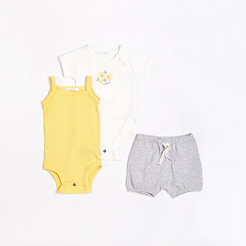 Sunflowers Outfit Set With Organic Cotton (3 pcs.)