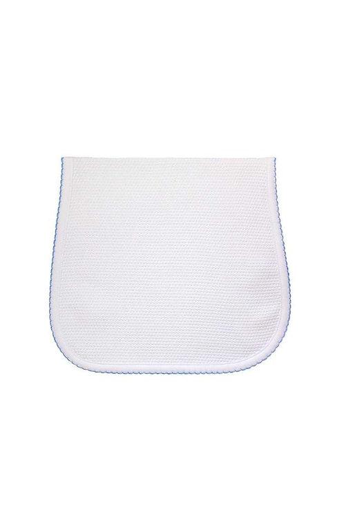 Blue White Bubble Burp Cloth
