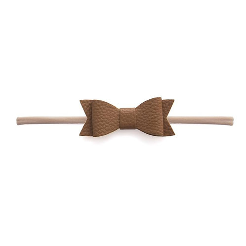 Camel Leather Bow