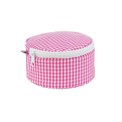 15cm Hot Pink Gingham Button Bag
