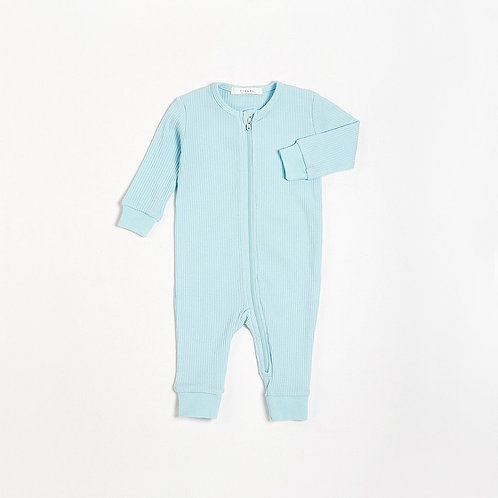 Azzurro Long Sleeve Romper with Organic Cotton