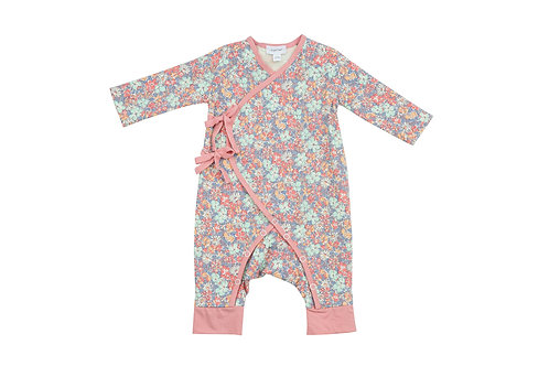Vintage Garden Wrap Coverall Pink Multi