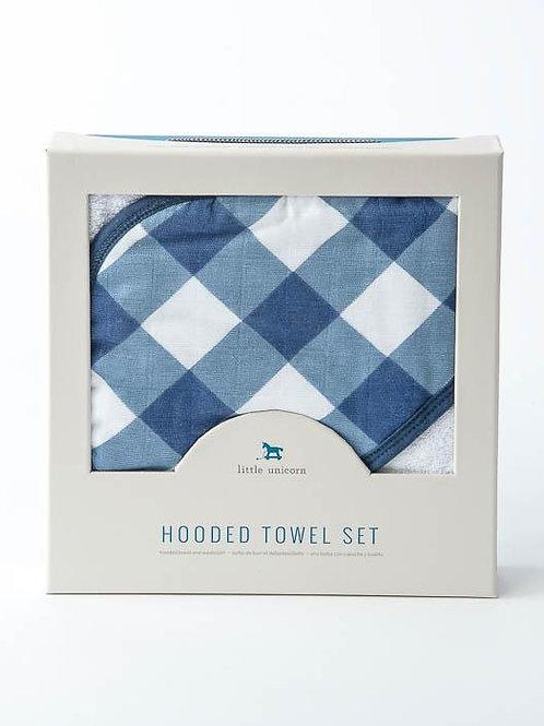 Jack Plaid Hooded Towel Set