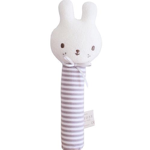 Baby Bunny Squeaker Grey