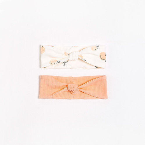 Peaches Headbands with Organic Cotton