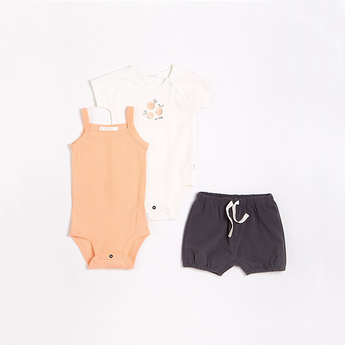 Peaches Outfit Set With Organic Cotton (3 pcs.)