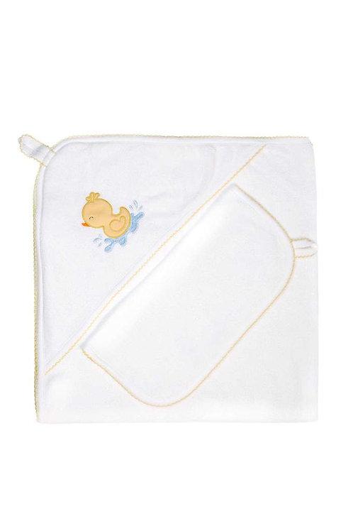 Yellow Duck Hooded Towel