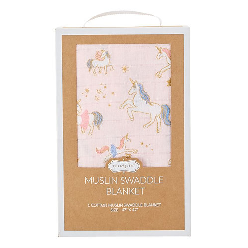 Unicorn Muslin Swaddle Blanket