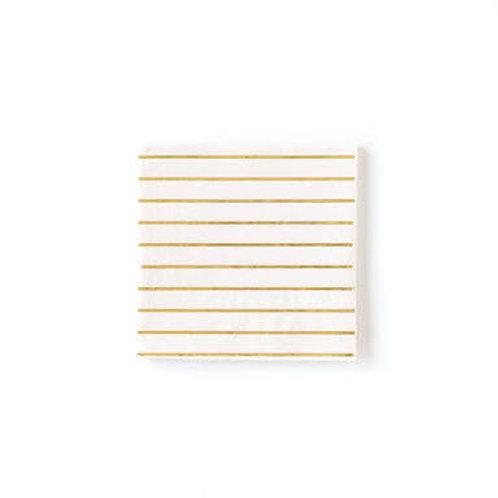 Cream Basic Stripe Napkins