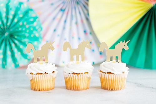 Neon Unicorn Cupcake Topper