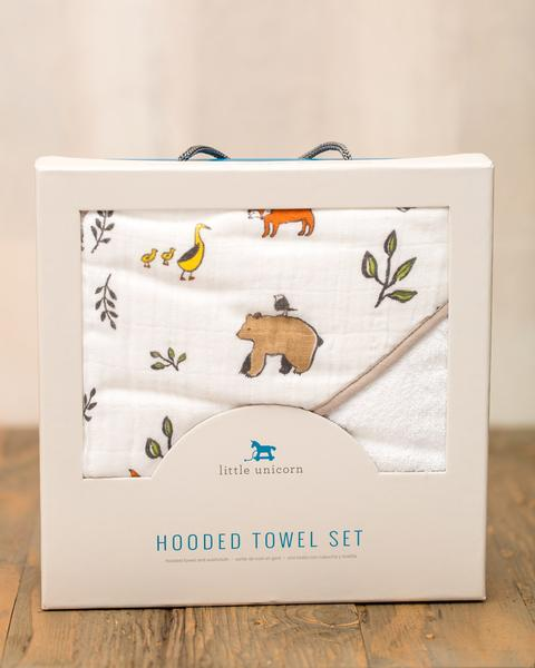 HOODED TOWEL SET - FOREST FRIENDS 1