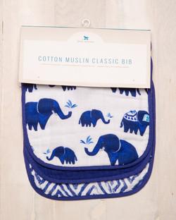COTTON MUSLIN CLASSIC BIB - INDIGO 1