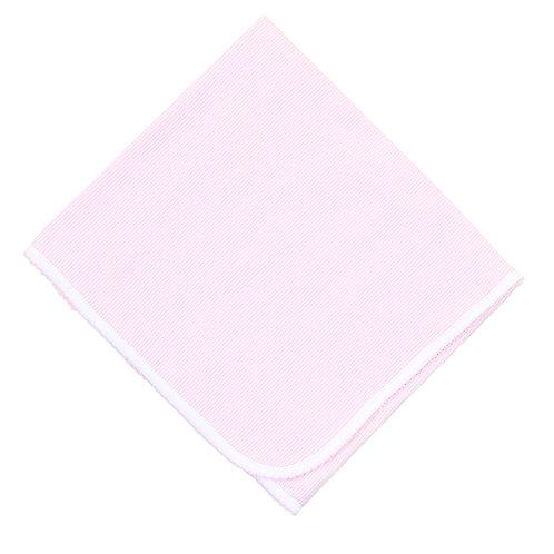 Mini Stripes  Pink Receiving Blanket