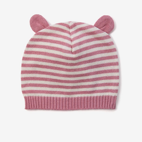 Mauve Stripe Hat