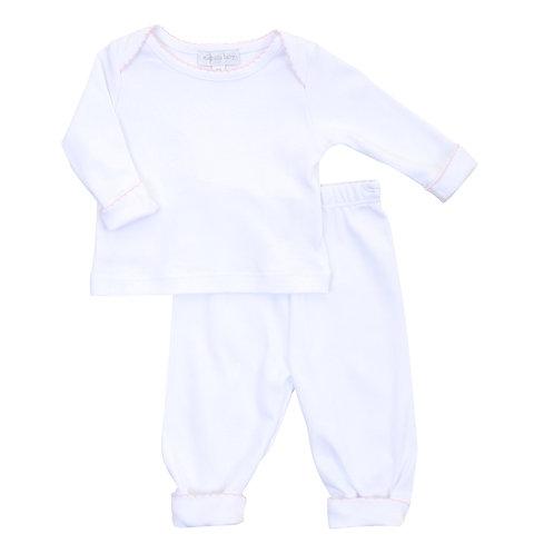 Essentials White & Pink 2pz Loungewear