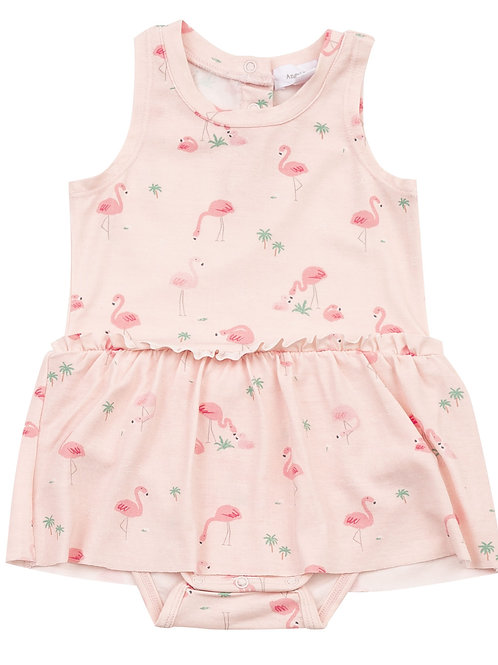 Flamingos Bodysuit With Skirt