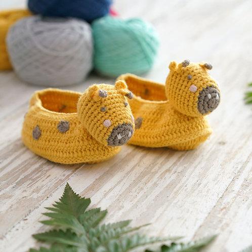 Crochet Giraffe Booties