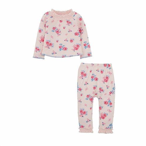 Pink Floral 2pz Set