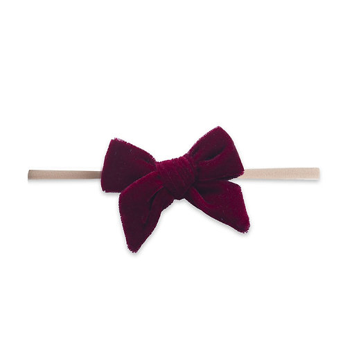 Ruby Velvet Bow Skinny
