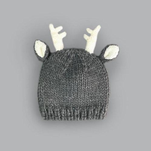 Hartley Deer Gray Knit Hat