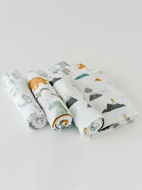 Dino Friends Swaddle Set