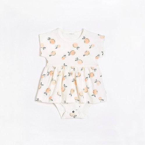 Peaches Peplum Dress with Organic Cotton