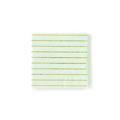 Mint Striped Napkins