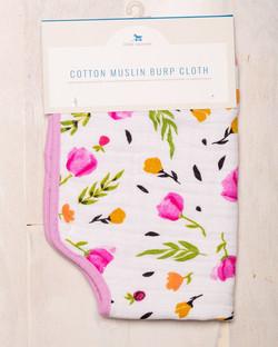 COTTON MUSLIN BURP CLOTH - BERRY & BLOOM 1