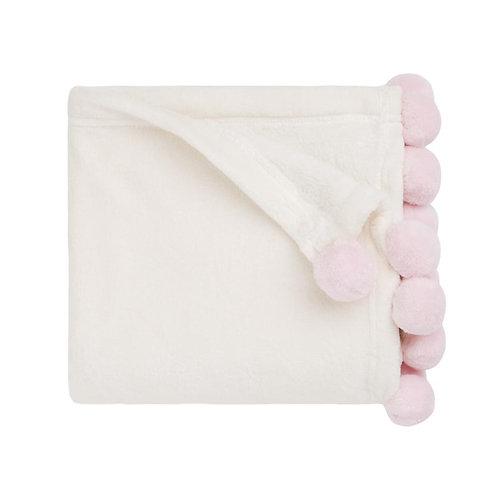 Pink Poms Blanket