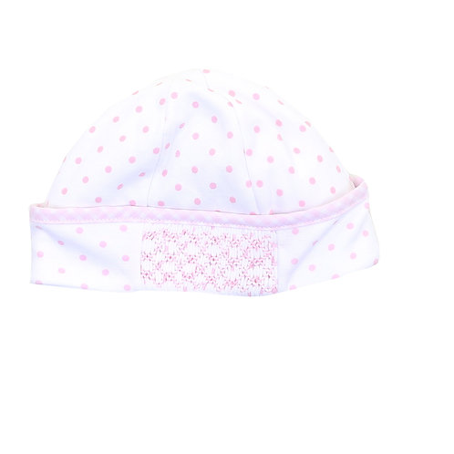 Pink Dots Smocked  Hat