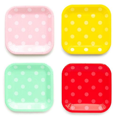 Multi Polka Dot Plate