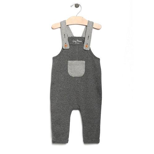 Iron Melange Stripe Pocket Overalls