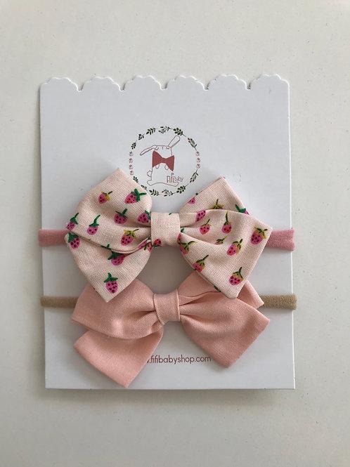 Moñitos Pale pink y Strawberry