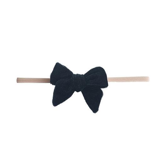 Black Velvet Bow Skinny