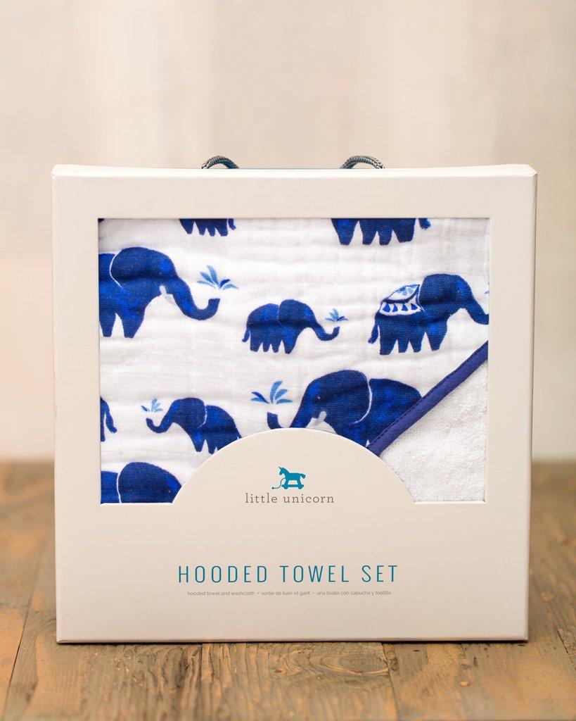 HOODED TOWEL SET - INDIE ELEPHANT 1