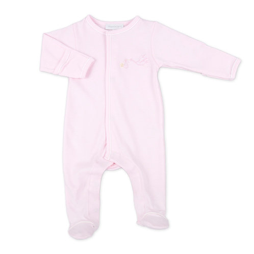 Pink Worth the Wait Embroidered Footie