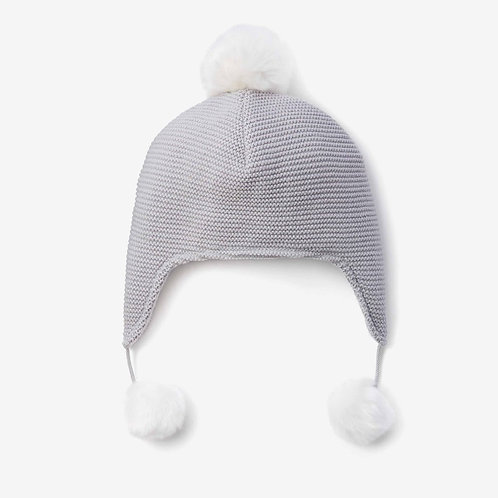 Blue Aviator Hat Pom