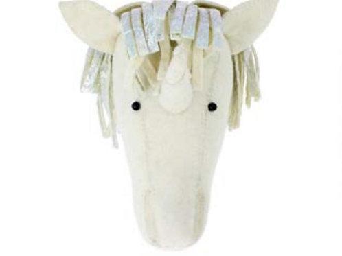 Semi- Silver Foil Unicorn Head