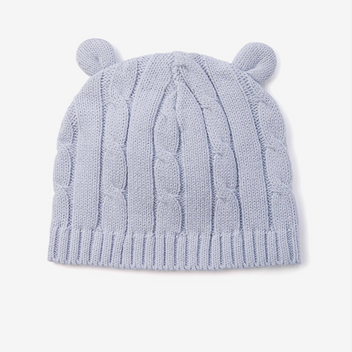 Pastel Blue Cable Hat Ears